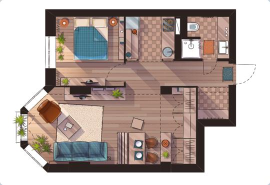 Levantamos un plano de la casa